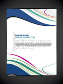 Beautiful Abstract Flyer Design, Cover page design, Colorful waves.