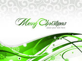 Beautiful Christmas Card Sparkling flyer with colorful background Vector illustration bells snowflakes stars Eps 10