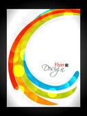 Modern Business Flyer Design, Minimal design Eps10 colorfull waves with grid.