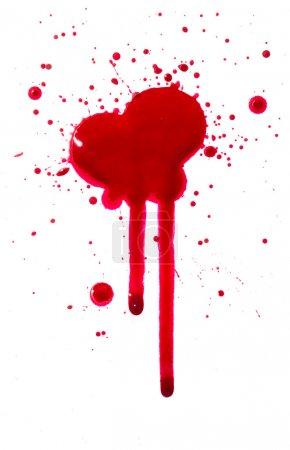 Foto de Una imagen de alta resolución de símbolos de sangre y gotas - Imagen libre de derechos
