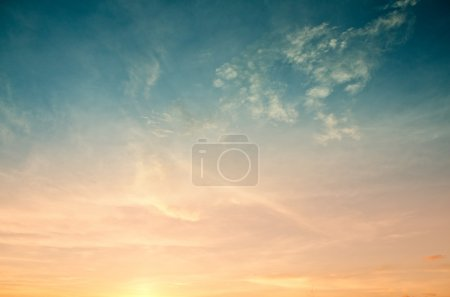 Photo for Colorful of sunset sky for web design and wallpaper background - Royalty Free Image
