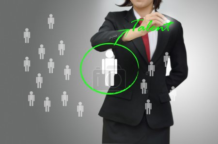 Photo for Business woman selected person talent for job - Royalty Free Image