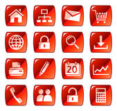 Web icons buttons Red series 1