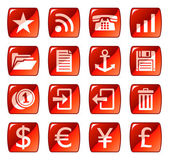 Web icons buttons Red series 3