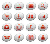 Web icons on ellipse buttons 1