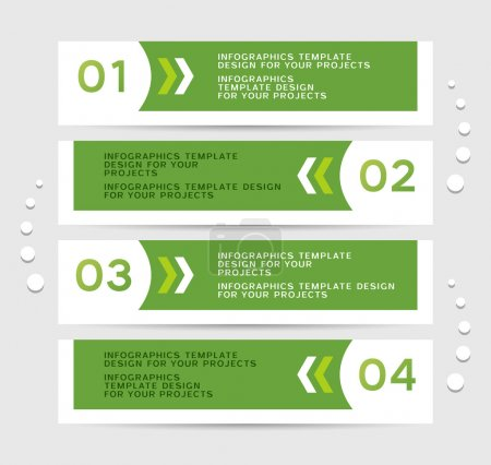 Infographics design with green banners