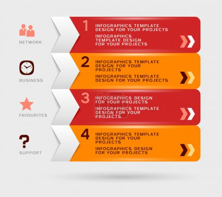 Infographic design. Eps10 vector