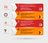 Infographic design with red orange navigation menu Eps10 vector