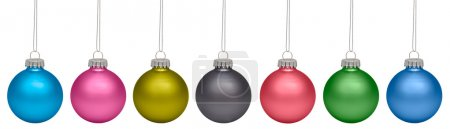 Christmas baubles isolated on white background. RGB and CMYK