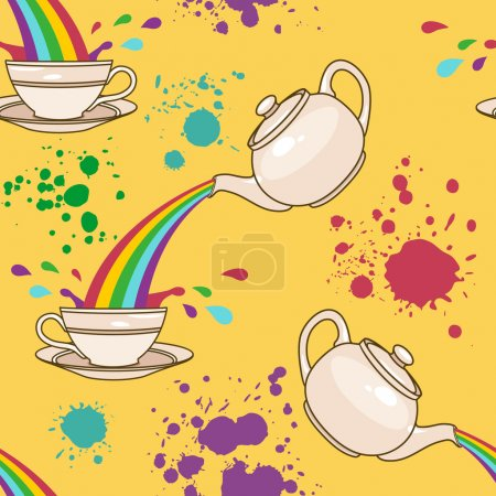rainbow tea splash pattern