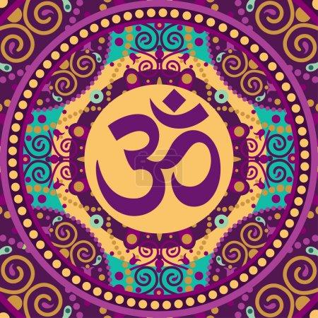 Vector indian spiritual sign ohm...