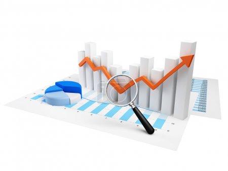 Business Graph with orange arrow