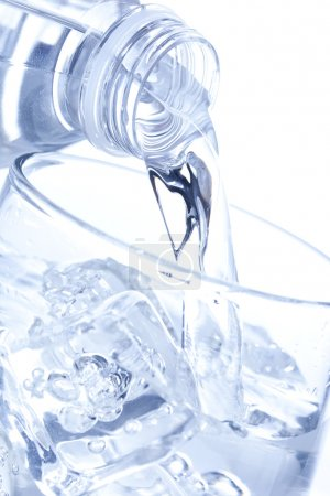 Refreshing water in a bottle