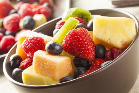 Photo for Fresh Organic Fruit Salad on a plate - Royalty Free Image