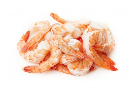 Photo for Fresh Organic Shrimp Cocktail with red sauce - Royalty Free Image
