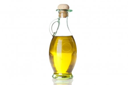 Photo for Traditional Homemade Olive Oil on a background - Royalty Free Image