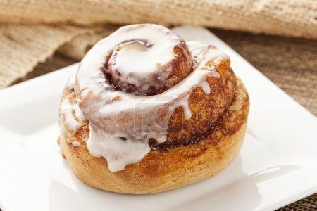 Photo for Fresh Homemade Cinnamon Rolls made for breakfast - Royalty Free Image