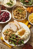 Hausgemachte Türkei Thanksgiving-Essen