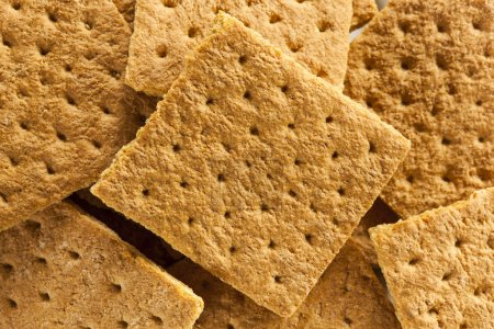 Healthy Honey Graham Crackers on a Plate...