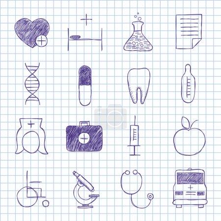 Illustration pour Images vectorielles sur la médecine - image libre de droit