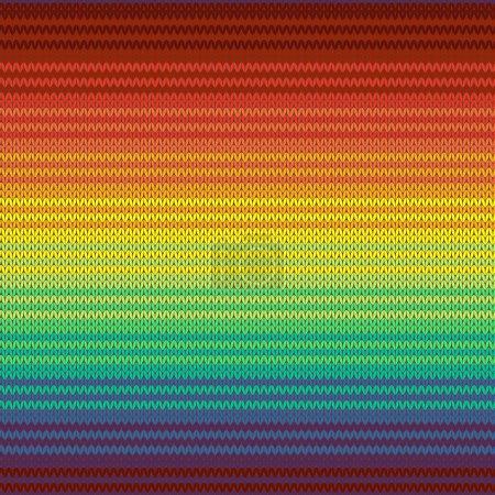 Illustration pour Modèle sans soudure couverture mexicaine tricotée, vector - image libre de droit