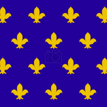 Fleur de lys (royal lily) seamless pattern, vector