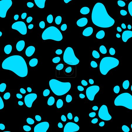 Illustration for Cat footprint seamless pattern, vector - Royalty Free Image