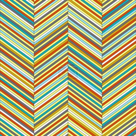 Chevron geometric seamless pattern, vector