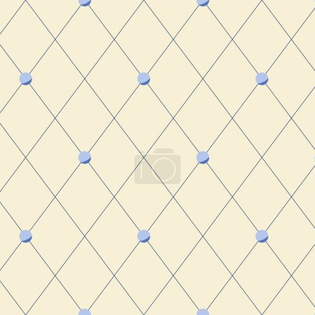 Illustration for Bright beige diamond shape geometric seamless pattern, vector - Royalty Free Image