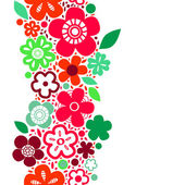 Spring bright floral seamless pattern on white vector