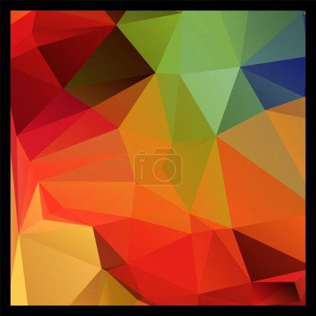 Illustration for Colorful red and green polygon abstract background, vector - Royalty Free Image