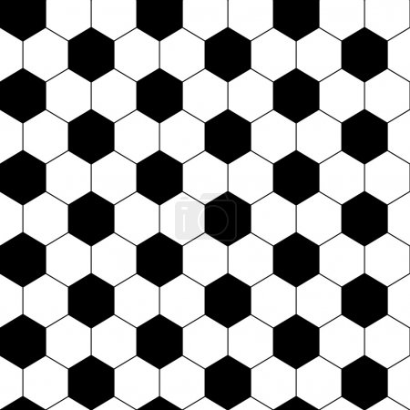Black and white hexagon soccer ball seamless pattern, vector