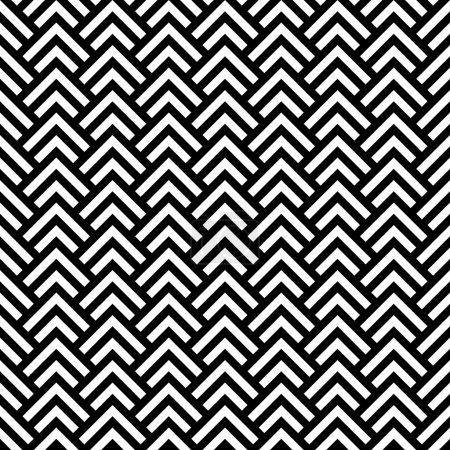 Ilustración de Inconsútil geometrico chevron blanco y negro, vector - Imagen libre de derechos