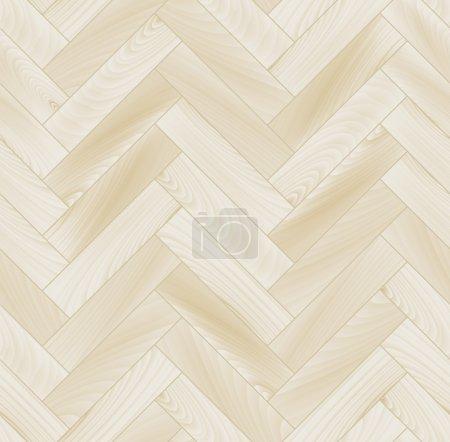 Realistic white wooden floor chevron parquet seamless pattern, vector