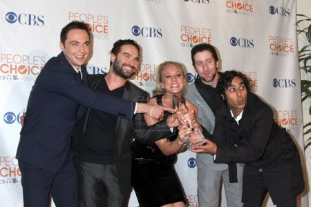 Photo for Big Bang Theory Cast & Producers in the Press Room at the 2010 's Choice Awards at Nokia Theater on January 6, 2010 - Royalty Free Image