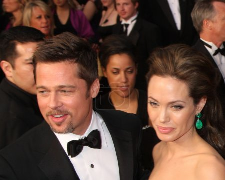 Photo for Brad Pitt and Angelina Jolie arriving at the 81st Academy Awards at the Kodak Theater in Los Angeles, CA on February 22, 2009 - Royalty Free Image