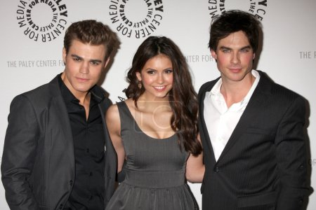 Photo for Paul Wesley, Nina Dobrev, Ian Somerhalder arriving at the Vampire Diaries PaleyFest Event Saban Theater in Los Angeles, CA on March 6, 2010 - Royalty Free Image