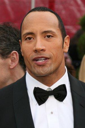 "Foto de Dwayne Johnson aka ""the Rock"" zur Oscarverleihung (Oscars) im Kodak Theater in Los Angeles, ca am 24. Februar 2008 - Imagen libre de derechos"
