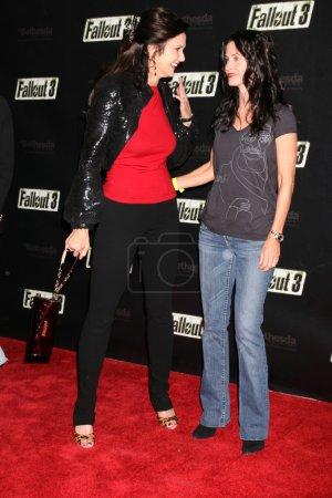 Lynda Carter and Courteney Cox