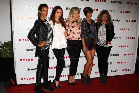 Singers Rochelle Wiseman, Una Healy, Mollie King, Frankie Sandford and Vanessa White