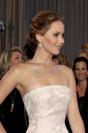 Photo for LOS ANGELES - FEB 24: Jennifer Lawrence arrives at the 85th Academy Awards presenting the Oscars at the Dolby Theater on February 24, 2013 in Los Angeles, CA - Royalty Free Image