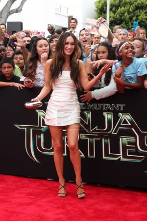 Photo for LOS ANGELES - AUG 3:  Megan Fox at the Teenage Mutant Ninja Turtles Premiere at the Village Theater on August 3, 2014 in Westwood, CA - Royalty Free Image
