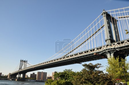 Photo pour Le pont de manhattan, de brooklyn - image libre de droit