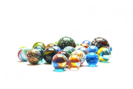 boule en verre marbre