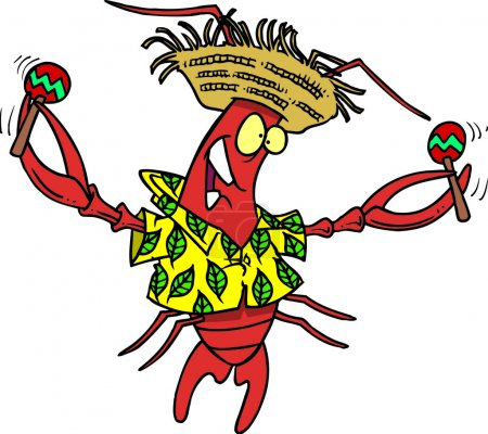 Royalty Free Clipart Image of a Calypso Lobster