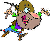Cartoon Gold Prospector
