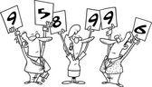 Cartoon Judges Scorecard