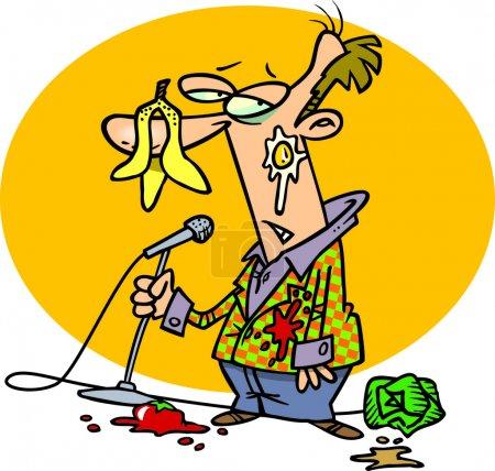 Illustration for Cartoon Bad Comedian - Royalty Free Image