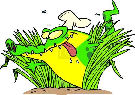 Cartoon Hungry Gator
