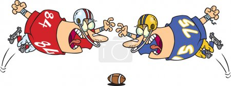 Cartoon Football Fumble
